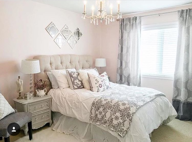Here Is The Before Photos Of Her French Pink Bedroom I Do Really Love It But My Daughter Was Ready For A 180 Change