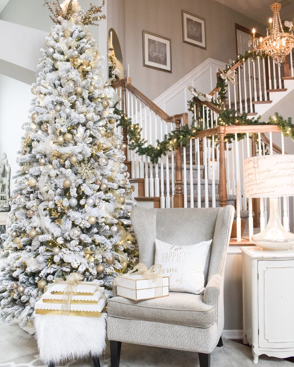 Adding Glam to Christmas Decor - Styled With Lace