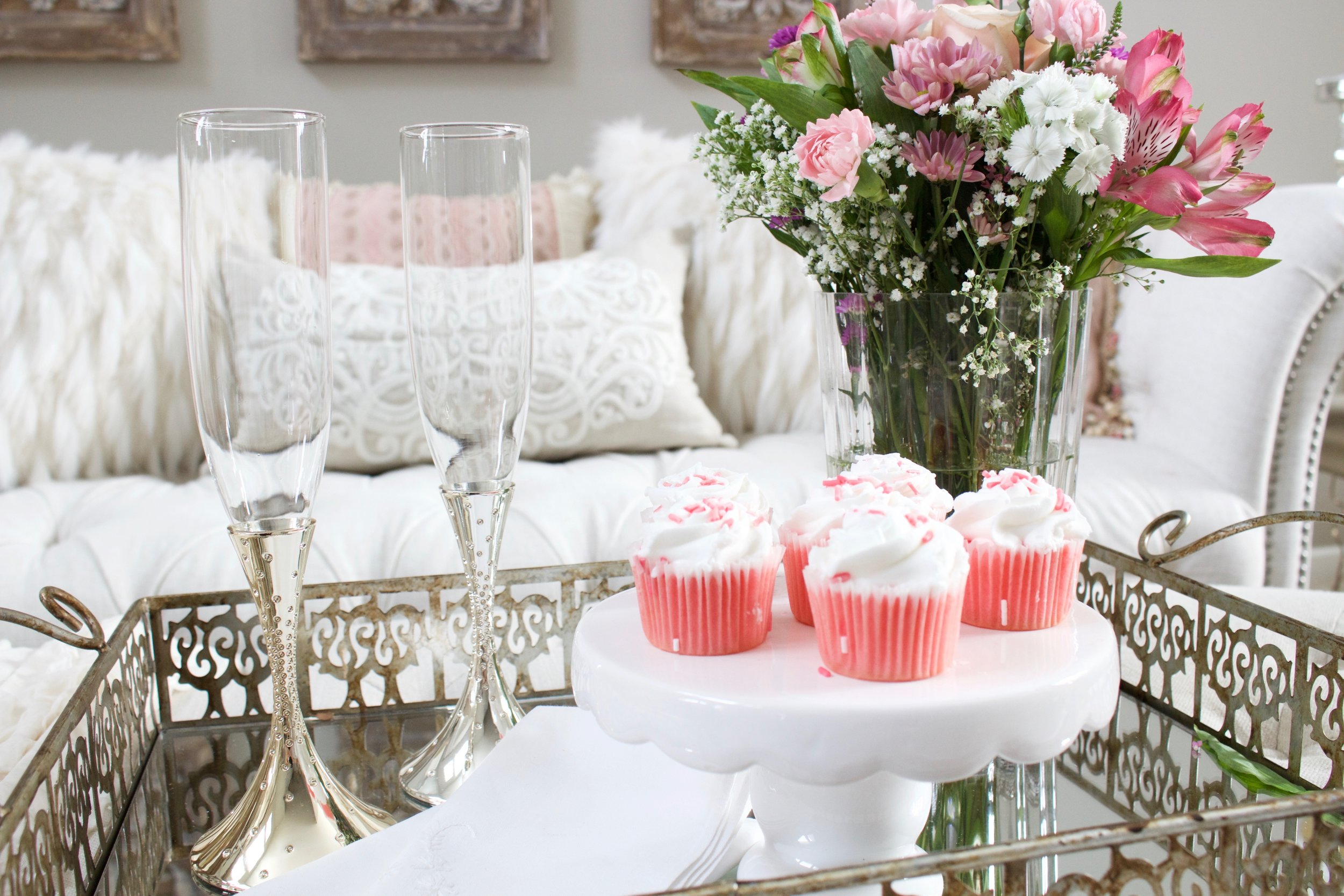 Romantic Blush Pink Living Room: Valentines Day Decor - Styled With Lace