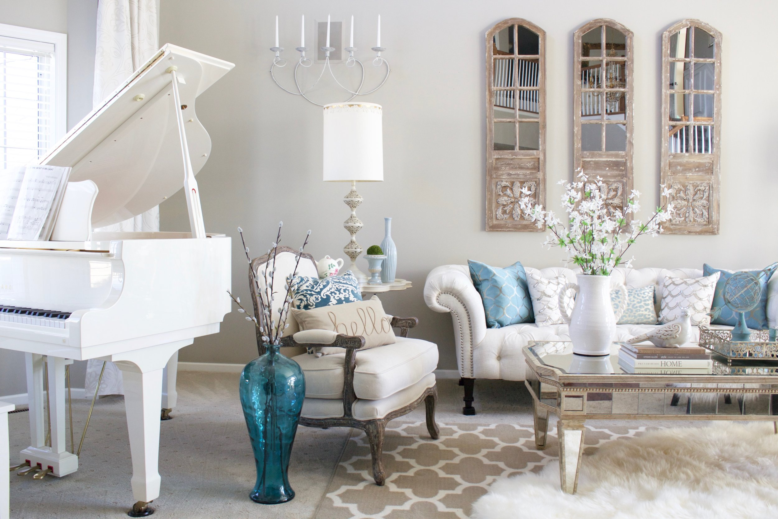 Style Your Home For Spring - Styled With Lace