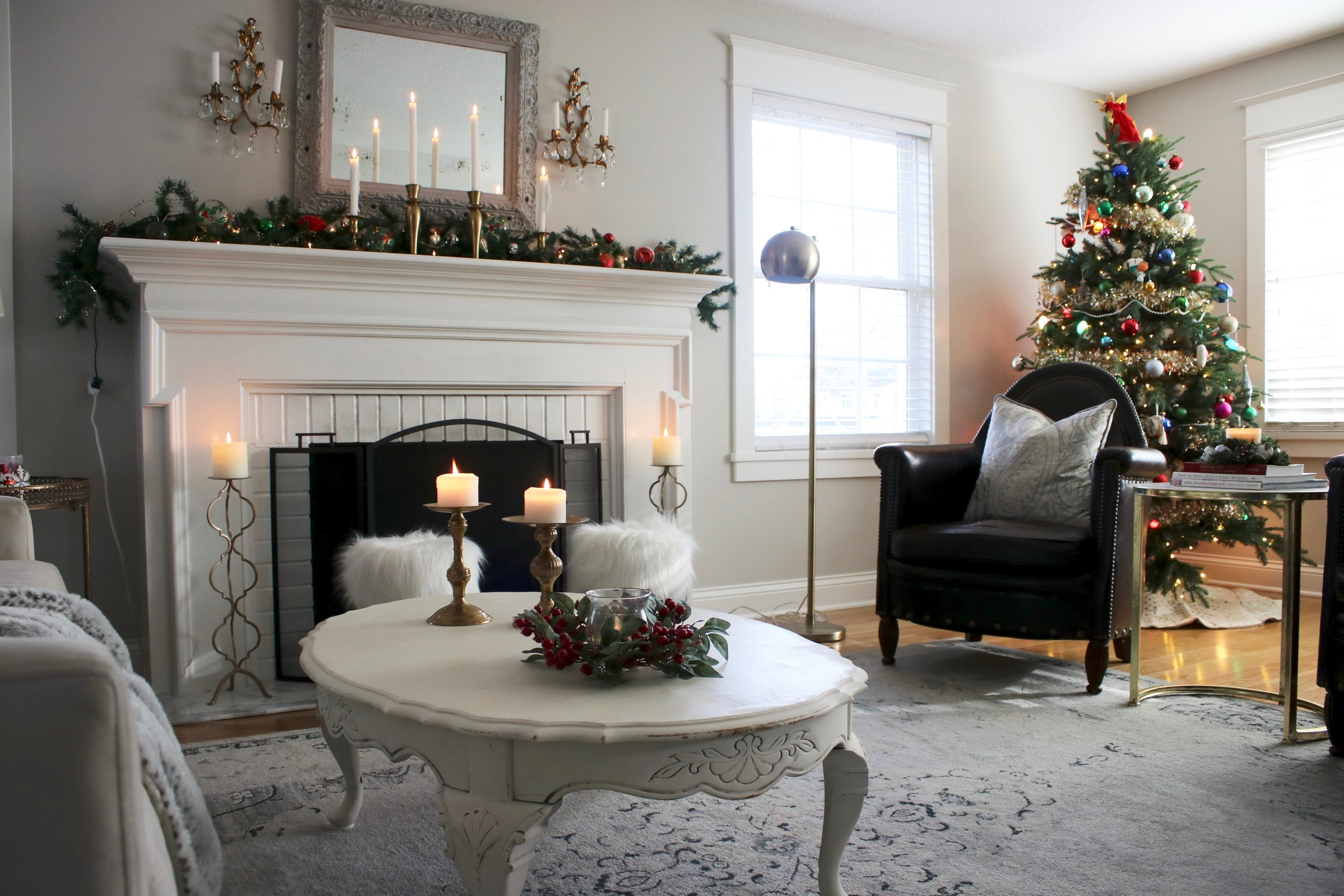 all of my pillows are either from target or homegoods and are all a couple years old but i have linked some similar below - Home Design Christmas 2017