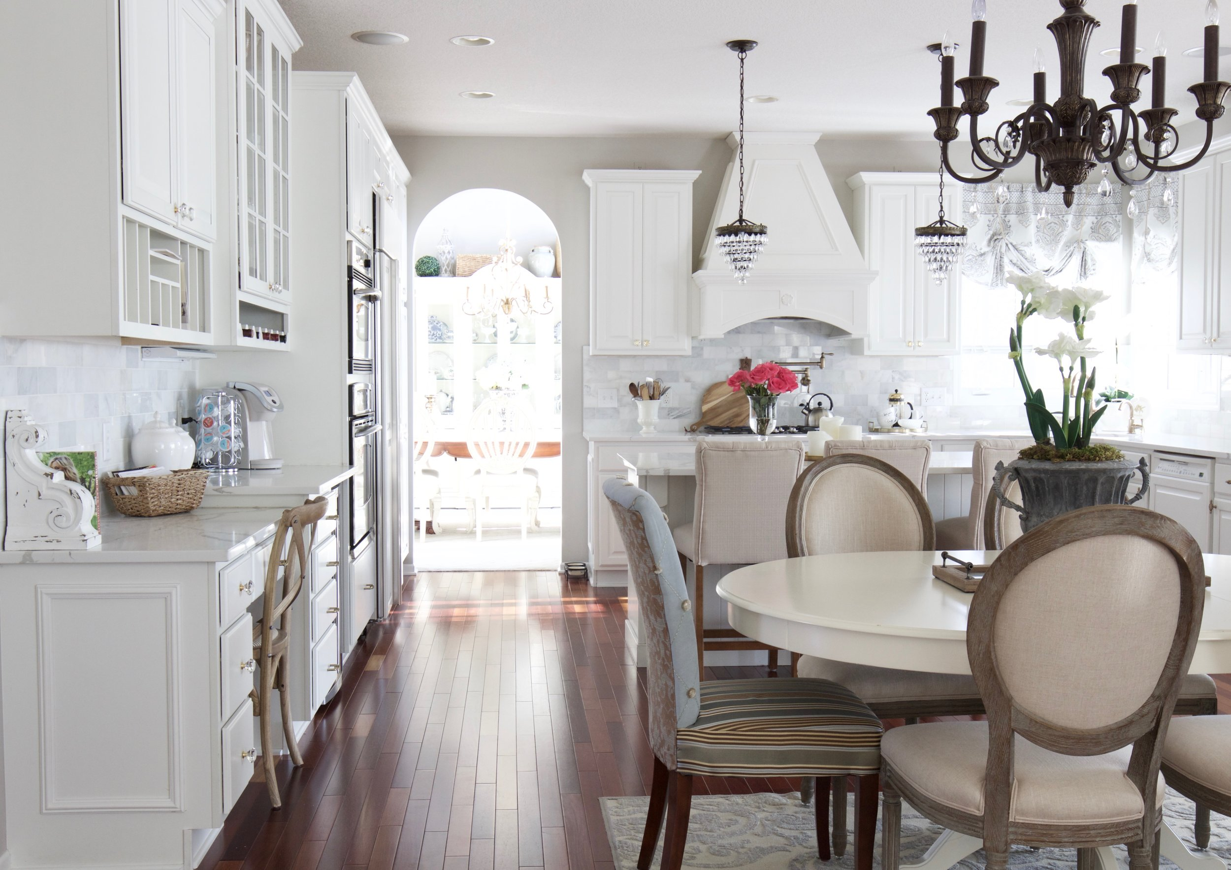 Kim\'s Bright White Kitchen Remodel - Styled With Lace