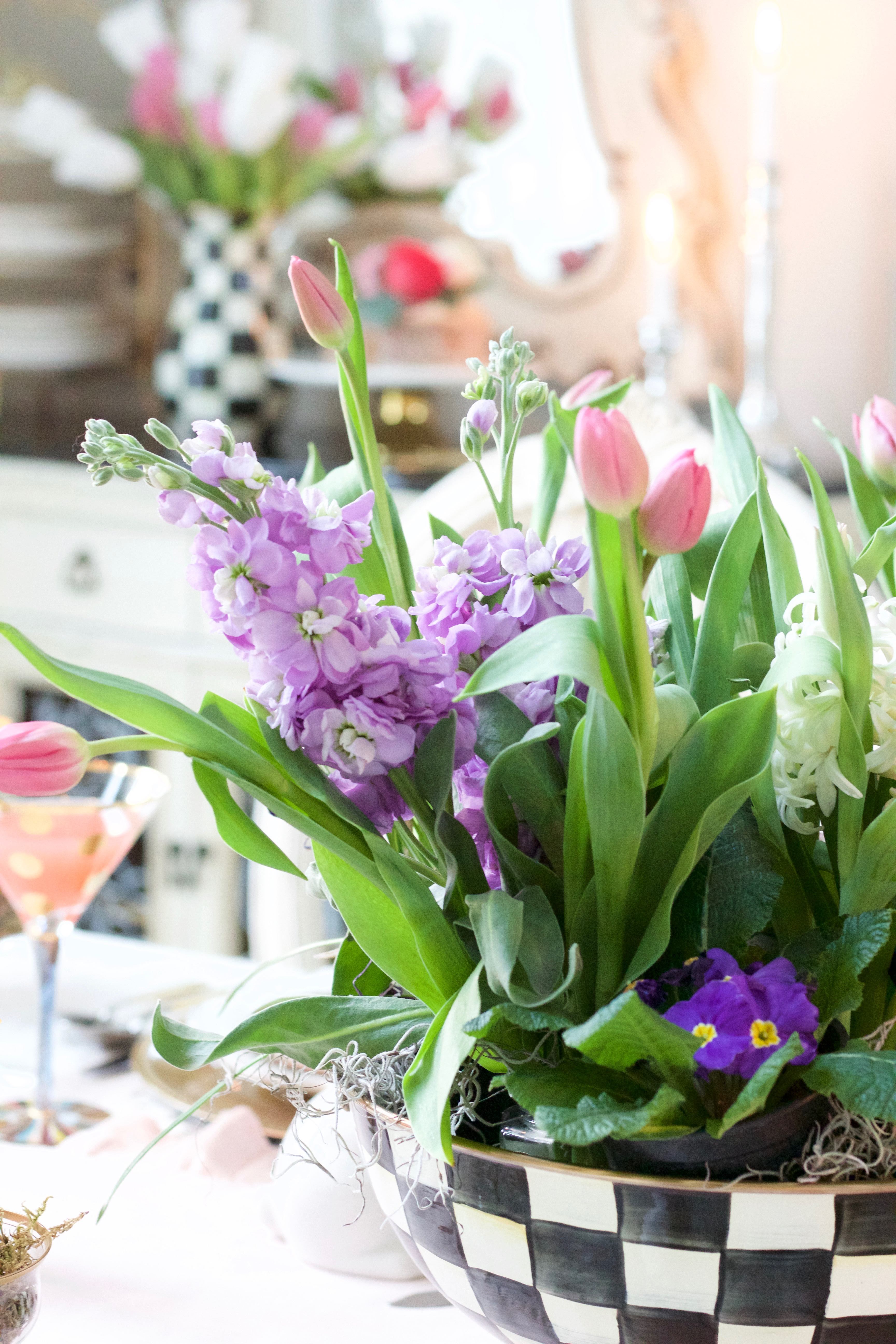 whimsical easter tablescape