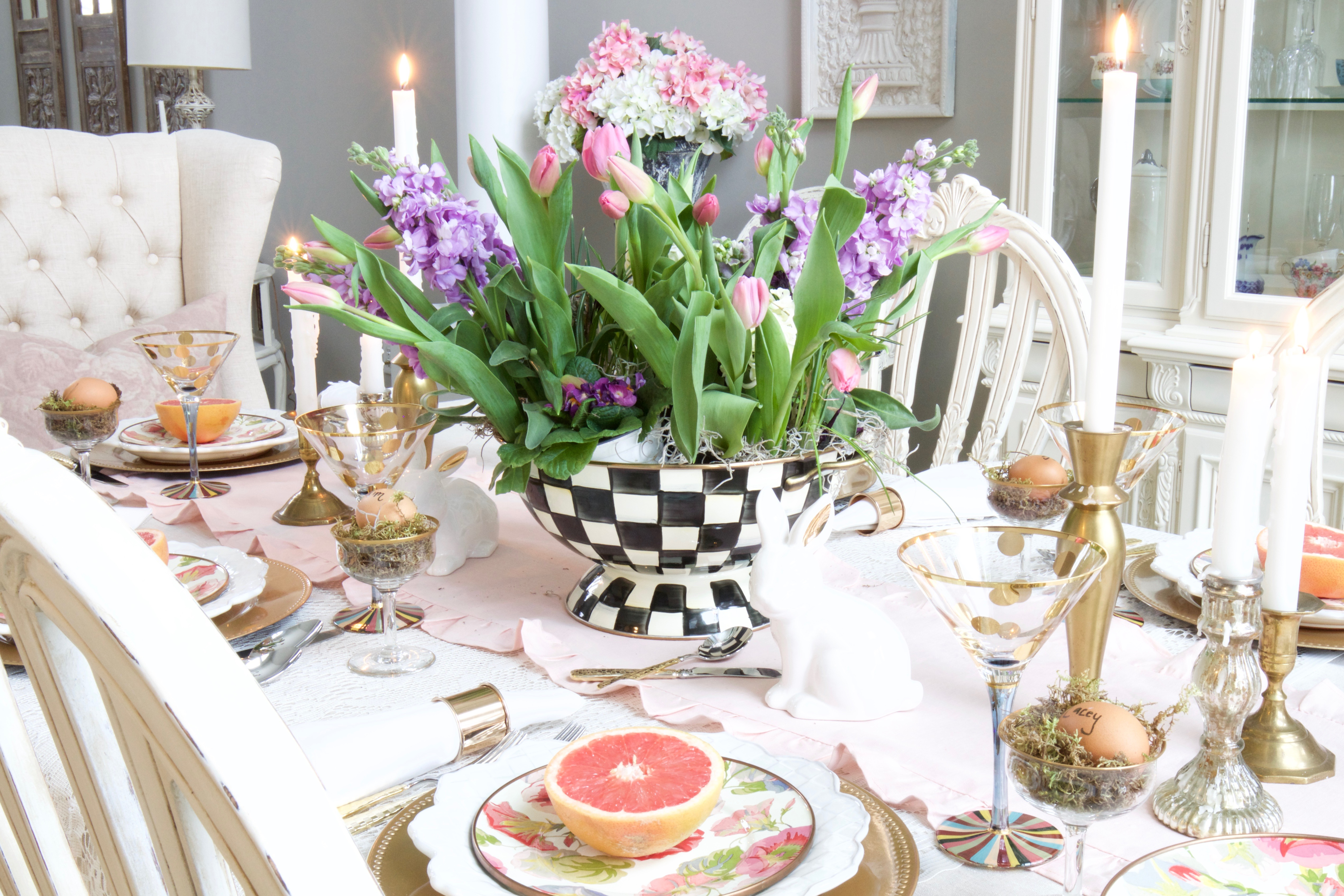 whimsical easter tablescape 15